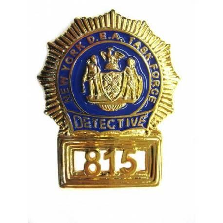 PLACA INSIGNIA DETECTIVE DEA NEW YORK