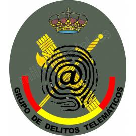 ADHESIVO GUARDIA CIVIL (DELITOS TELEMATICOS) REDONDO