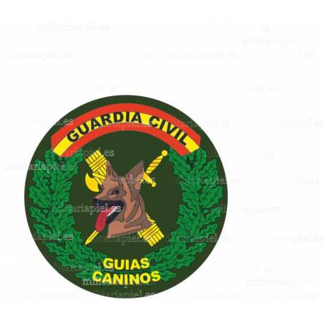 ADHESIVO GUARDIA CIVIL GUIAS CANINOS REDONDO