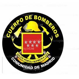 ADHESIVO CUERPO DE BOMBEROS COMUNIDAD DE MADRID