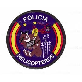 ADHESIVO CUERPO POLICIA NACIONAL HELICOPTEROS