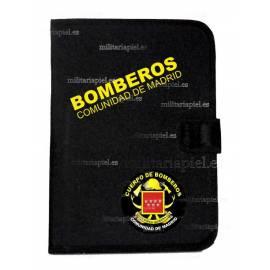 CARPETA PORTADOCUMENTOS CON EL EMBLEMA BOMBEROS COMUNIDAD DE MADRID
