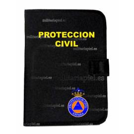 PORTADOCUMENTOS CON EL EMBLEMA DE PROTECCION CIVIL