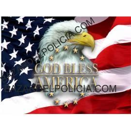 ADHESIVO GOD BLESS AMERICA