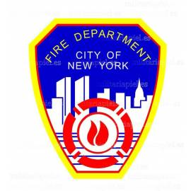 ADHESIVO FIRE DEPARTAMENT NEW YORK