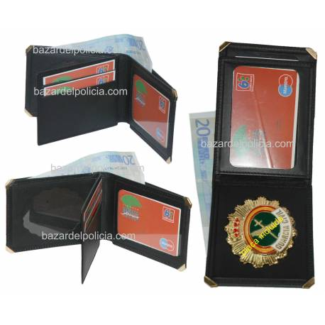 CARTERA PORTAPLACA TARJETERO GUARDIA CIVIL (PLACA INCLUIDA