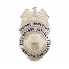 PLACA INSPECTOR POLICIA SERVICIO INMIGRACION ESTADOS UNIDOS
