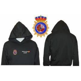 SUDADERA CON CAPUCHA POLICIA CNP