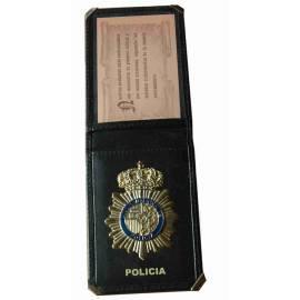CARTERA CON PLACA POLICIA NACIONAL