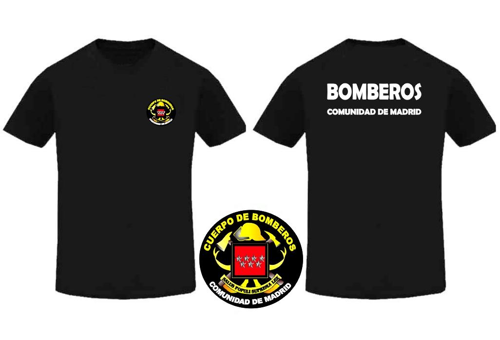 0d6da382fc564 CAMISETA BOMBEROS COMUNIDAD DE MADRID