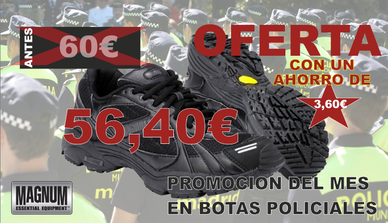 Botas policiales Magnum en oferta