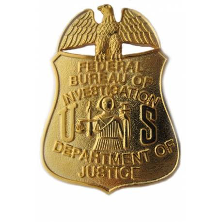 PLACA INSIGNIA FBI