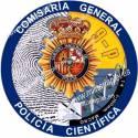 ADHESIVO CUERPO POLICIA NACIONAL CIENTIFICA