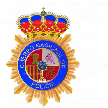 ADHESIVO CUERPO POLICIA NACIONAL COLOR