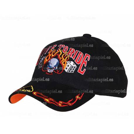 GORRA BORDADA LIVE TO RIDE