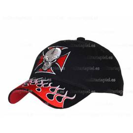 GORRA BORDADA CROSS WITH SKULL (CRUZ CON EL CRANEO)