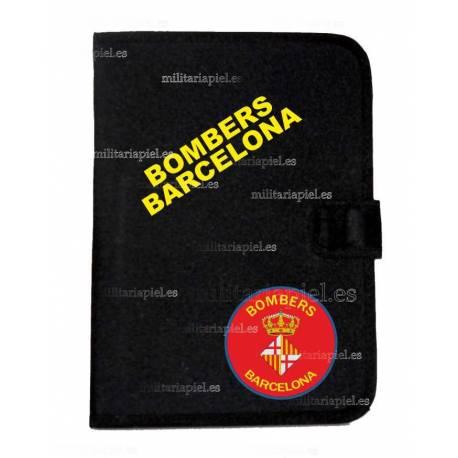 PORTADOCUMENTOS CON EL EMBLEMA DE LOS BOMBEROS DE BARCELONA