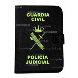 PORTADOCUMENTOS CON EL EMBLEMA  DE LA GUARDIA CIVIL POLICI A JUDICIAL