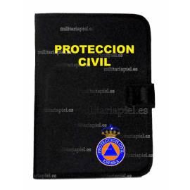 PORTADOCUMENTOS CON EL EMBLEMA DE PROTECCION CIVIL
