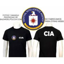 "CAMISETA CIA ""CENTRAL INTELLIGENCE  AGENCY"" ( AGENCIA DE INTELIGENCIA  CENTRAL)"