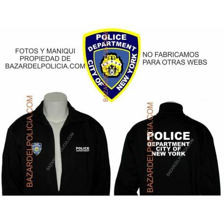 SUDADERA CON CREMALLERA POLICE DEPARTMENT NEW YORK