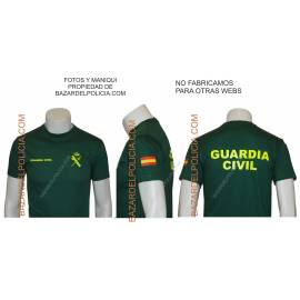 CAMISETA GUARDIA CIVIL GENERICA CON COLOR NUEVA NORMATIVA BANDERA BRAZO
