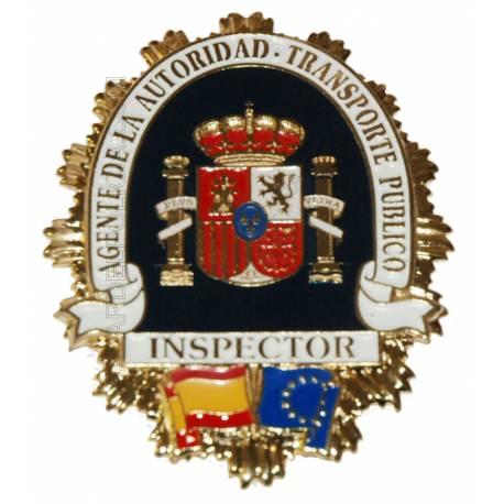 PLACA  AGENTE DE LA AUTORIDAD INSPECTOR