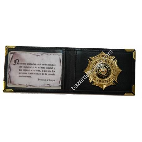 PORTAPLACAS CON TIP POLICIA SERVICIO INMIGRACION (PLACA INCLUIDA)