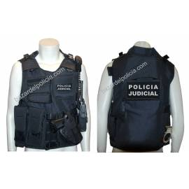 CHALECO BARBARIC FORCE PILKERTON II NEGRO POLICIA JUDICIAL