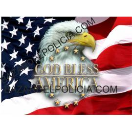 ADHESIVO GOD BLESS AMERICA