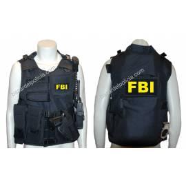 CHALECO BARBARIC FORCE PILKERTON II NEGRO FBI