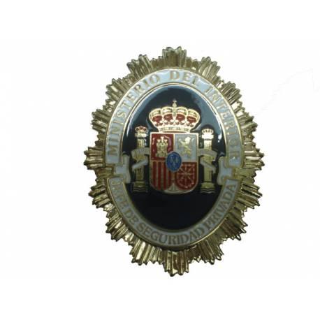 PLACA JEFE SEGURIDAD PRIVADA ESPAГ'A
