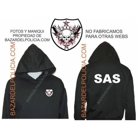 SUDADERA CON CAPUCHA SAS (SERVICIO AEREO ESPECIAL)