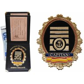 CARTERA CAPITAN MARINA MERCANTE (PLACA INCLUIDA)