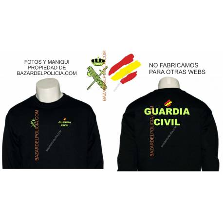 SUDADERA GUARDIA CIVIL GENERICA BANDERA
