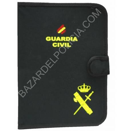 PORTADOCUMENTOS CON EL EMBBLEMA DE LA GUARDIA CIVIL CON BANDERA