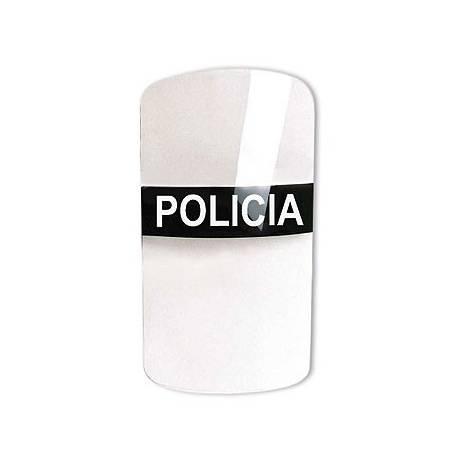 """Rótulo """"Policía"""" negro con letras blancas para escudos anti-dist"""