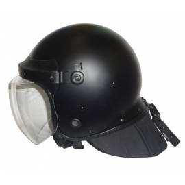 CASCO ANTIDISTURBIOS con VISERA 4mm y NUNA PLEGABLE 10mm