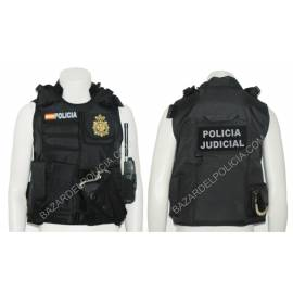 CHALECO BARBARIC FORCE PILKERTON II NEGRO POLICIA NACIONAL JUDICIAL