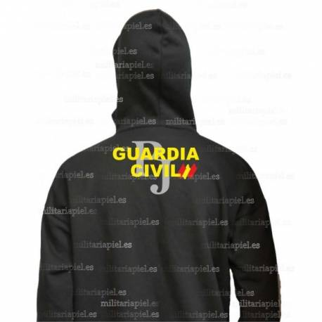 SUDADERA CON CAPUCHA GUARDIA CIVIL JUDICIAL