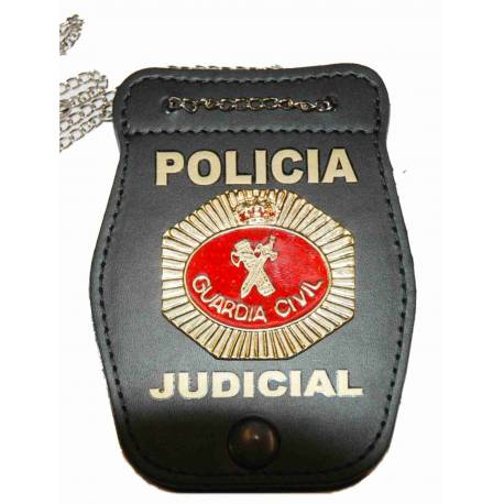 PORTAPLACAS GUARDIA CIVIL POLICIA JUDICIAL (PLACA INCLUIDA)