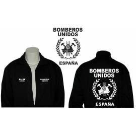 SUDADERA CREMALLERA BOMBEROS UNIDOS ESPAÑA
