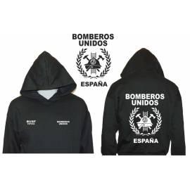 SUDADERA CON CAPUCHA BOMBEROS UNIDOS ESPAÑA BUSF