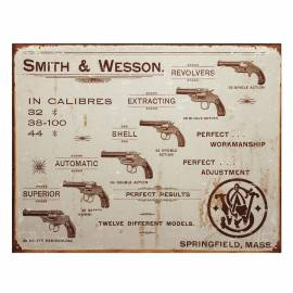 PLACA METALICA SMITH & WESSON