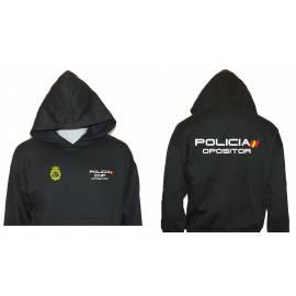 SUDADERA CON CAPUCHA POLICIA OPOSITOR
