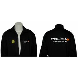 SUDADERA CREMALLERA OPOSITOR POLICIA