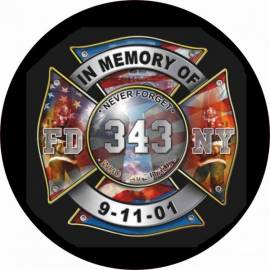 ADHESIVO BOMBEROS NY 11S
