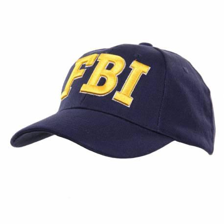 GORRA BORDADA FBI DORADA