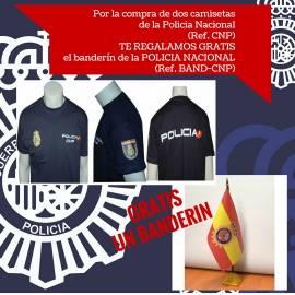 CAMISETAS POLICIA NACIONAL PACK BANDERIN
