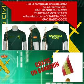 CAMISETAS GUARDIA CIVIL PACK BANDERIN